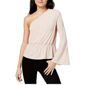 RACHEL ROY Womens Pink One Shoulder Bell Sleeve As